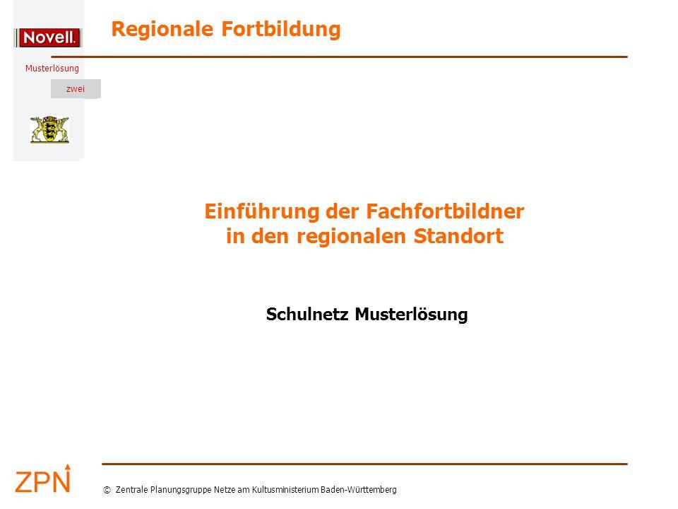 © Zentrale Planungsgruppe Netze am Kultusministerium Baden-Württemberg Musterlösung zwei Stand: 5.3.2007 Verzeichnisse der Teilnehmer Wo sind die Verzeichnisse meiner Kursteilnehmer.