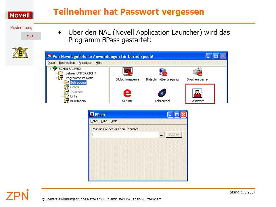 © Zentrale Planungsgruppe Netze am Kultusministerium Baden-Württemberg Musterlösung zwei Stand: 5.3.2007 Melden Sie sich im Netz an als Fortbildner.
