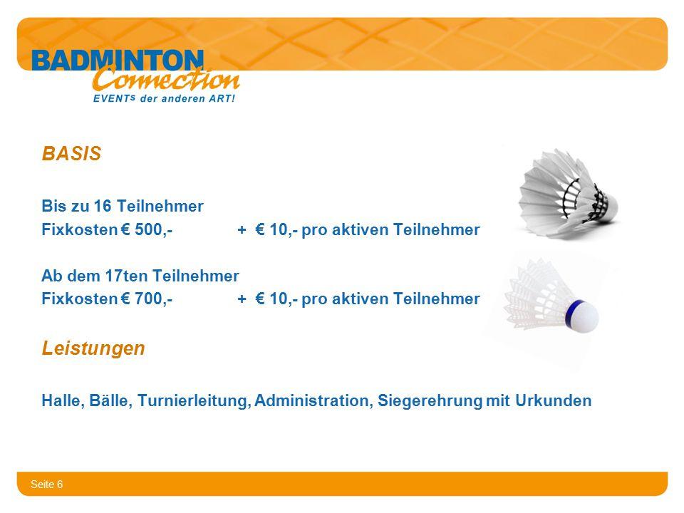 Seite 7 Ihre Ansprechpartner Hans Bogensperger Ideenträger habo@badminton-connection.at Tel.