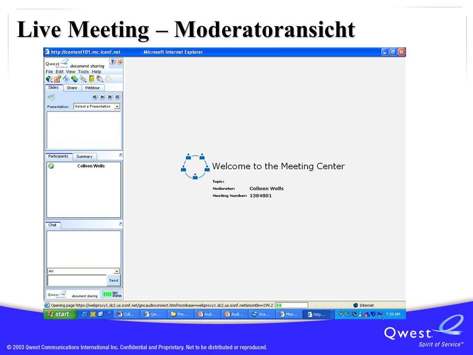 Live Meeting – Moderatoransicht