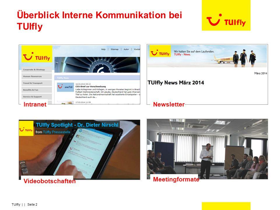TUIfly | | Seite 2 Überblick Interne Kommunikation bei TUIfly Newsletter Videobotschaften Meetingformate Intranet