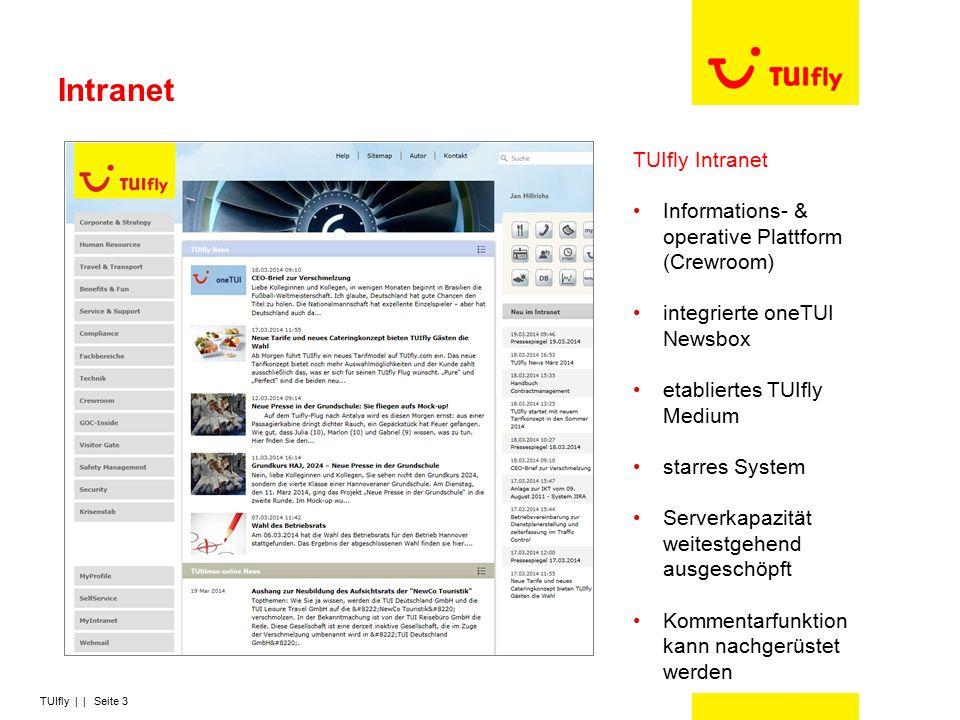 TUIfly | | Seite 4 Newsletter TUIfly-News Newsletter mit Zeitungscharakter (Events, Interviews, neueste Themen, Termine,…) eher unterhaltend Managementletter Bericht der GF zur aktuellen Geschäftslage eher Hardfacts