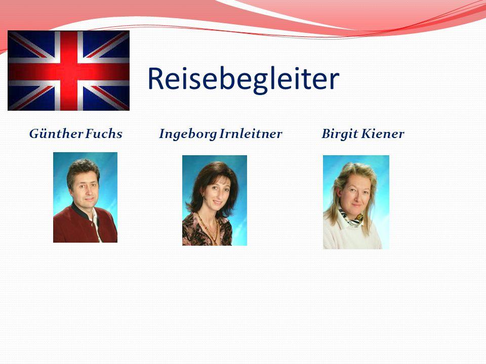 Reisebegleiter Günther Fuchs Ingeborg Irnleitner Birgit Kiener