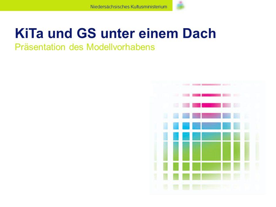 Niedersächsisches Kultusministerium KiTa und GS unter einem Dach Präsentation des Modellvorhabens