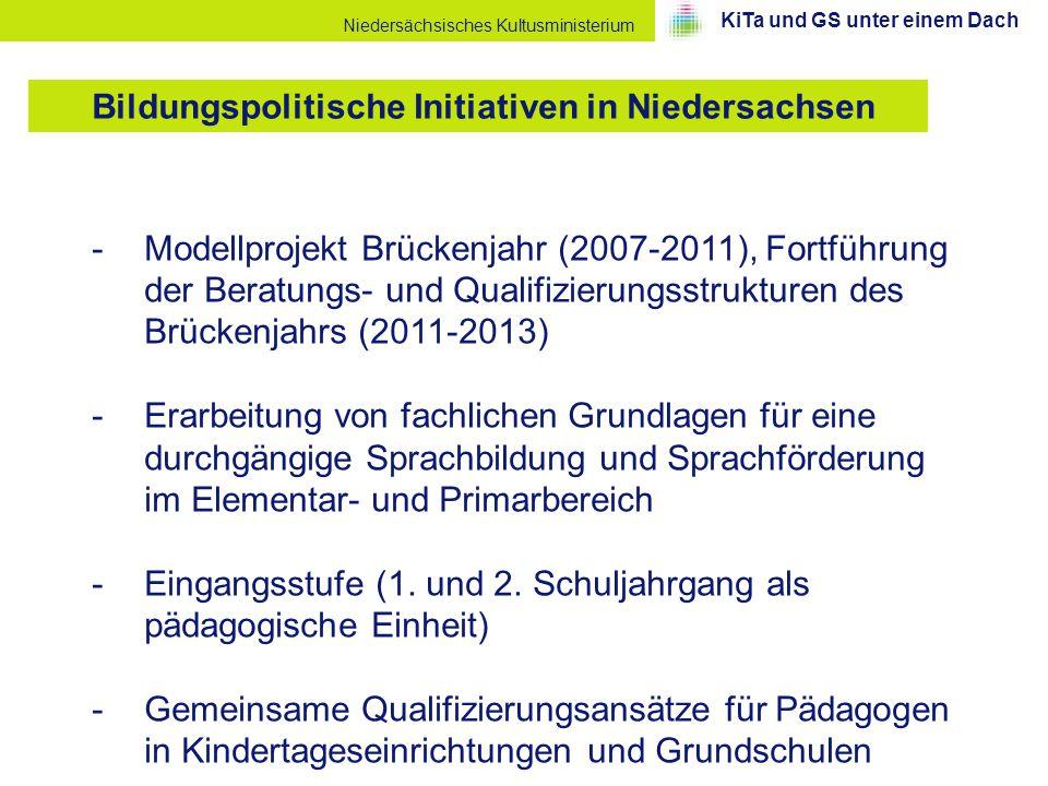 Niedersächsisches Kultusministerium -Modellprojekt Brückenjahr (2007-2011), Fortführung der Beratungs- und Qualifizierungsstrukturen des Brückenjahrs