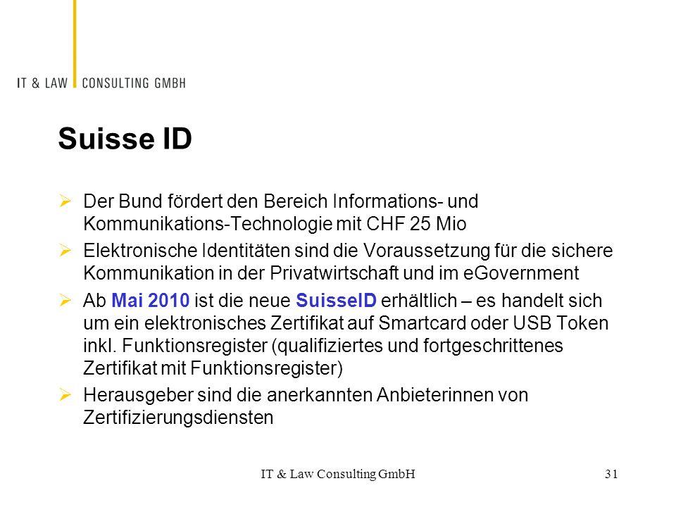 Suisse ID  Der Bund fördert den Bereich Informations- und Kommunikations-Technologie mit CHF 25 Mio  Elektronische Identitäten sind die Voraussetzun