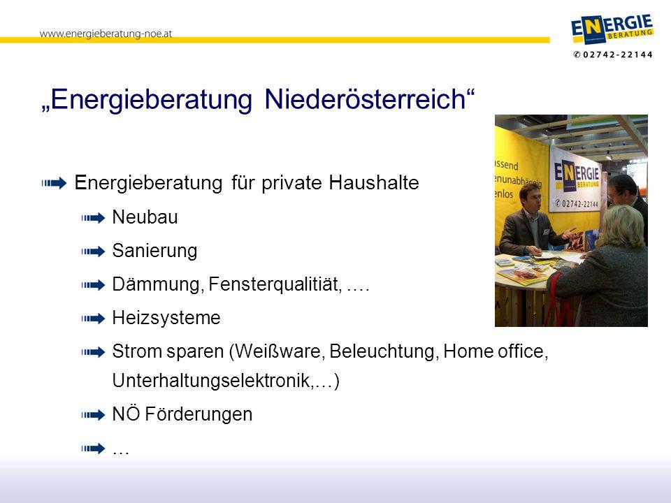 """""""Energieberatung Niederösterreich Energieberatung für private Haushalte Neubau Sanierung Dämmung, Fensterqualitiät, …."""