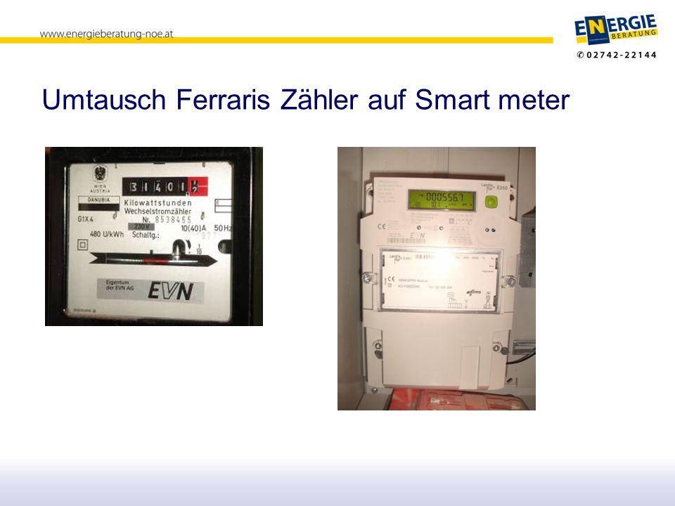 Umtausch Ferraris Zähler auf Smart meter