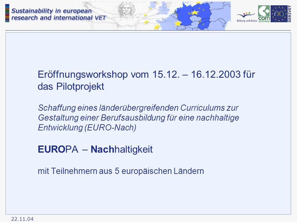22.11.04 Eröffnungsworkshop vom 15.12.