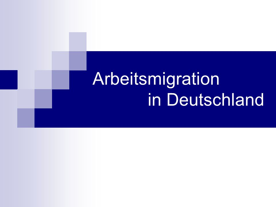 2)Kurzfristige Aufenthaltgenehmigung 3)Aufenthaltsgenehmigung für Studenten 4)Aufenthaltsgenehmigung für Spitzenkräfte Ende 2001 blockiert CDU/CSU Mehrheit im Bundesrat Weitere Vorschläge der Süssmuth-Kommission