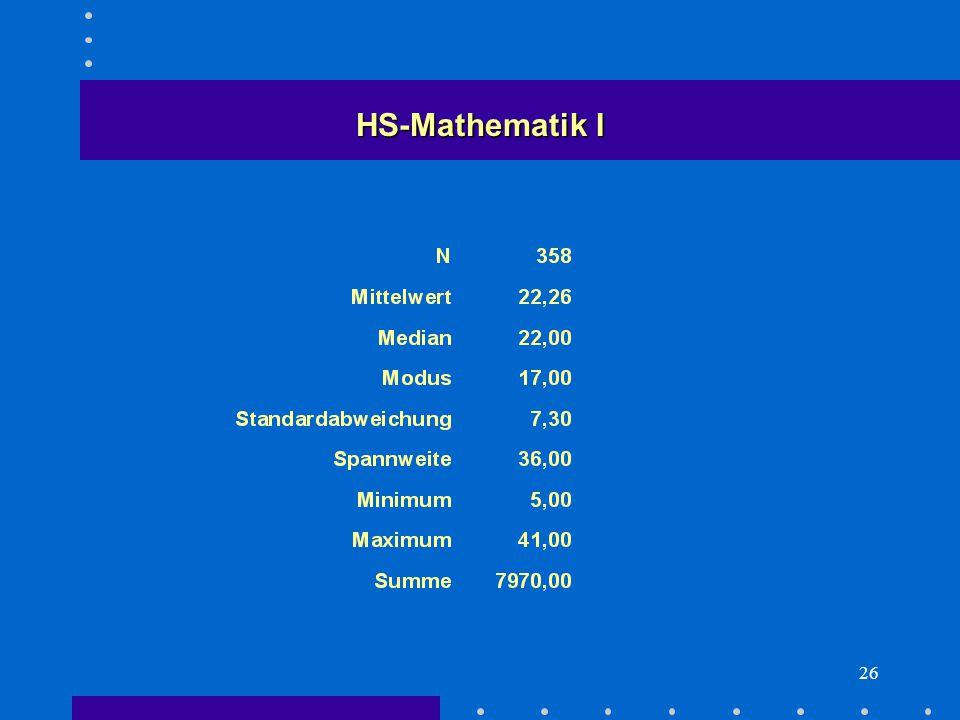 26 HS-Mathematik I