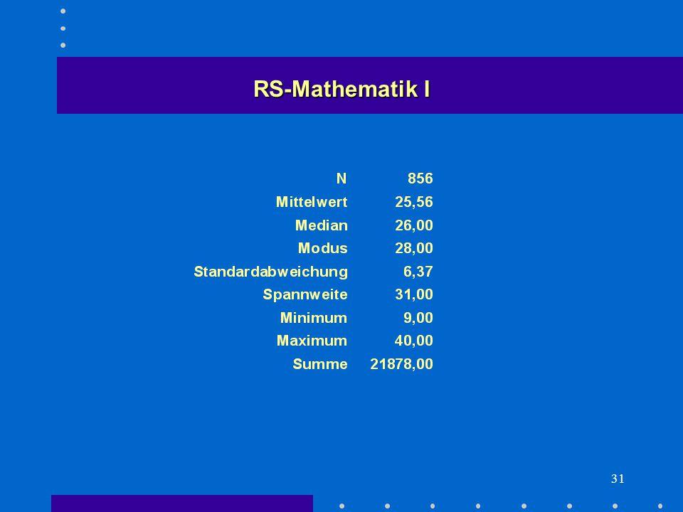 31 RS-Mathematik I