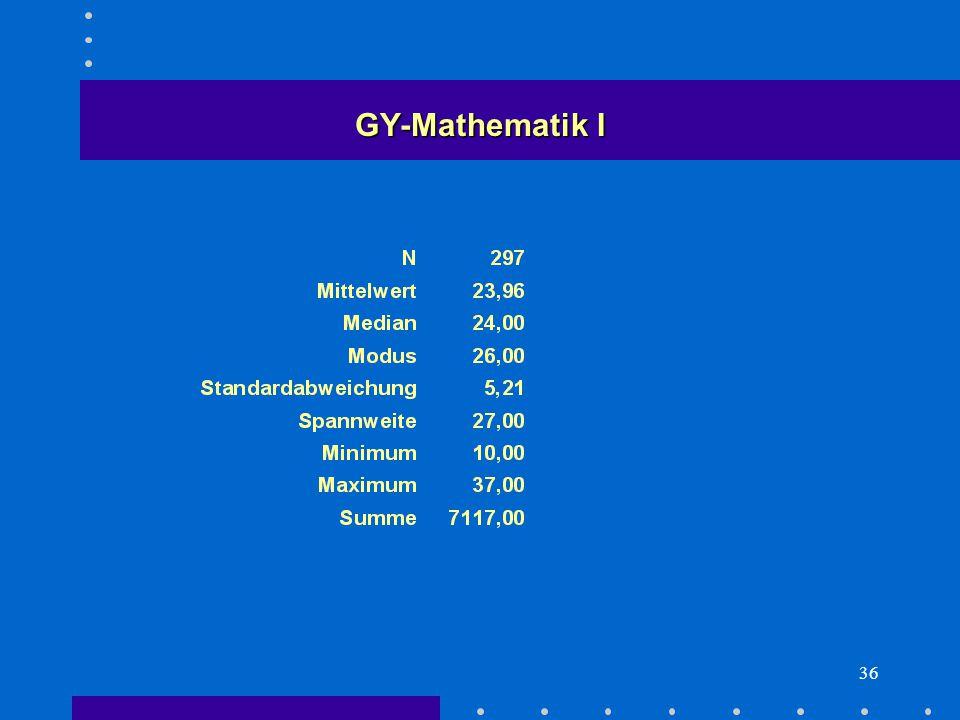 36 GY-Mathematik I