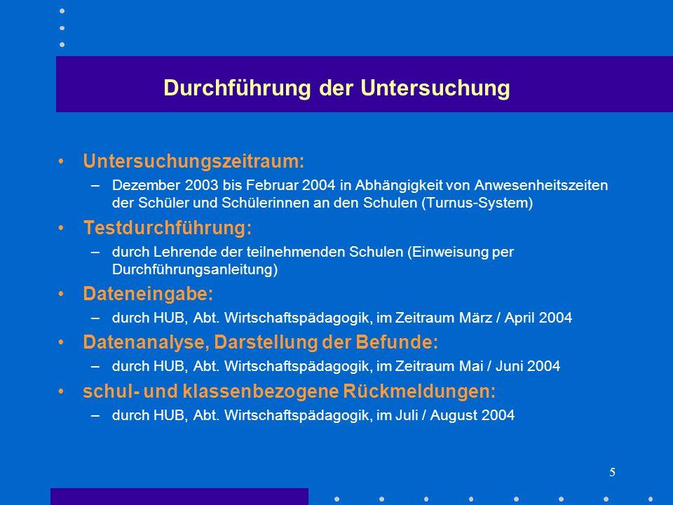6 Stichprobe Teilnehmende Schulen:  OSZ Versorgungstechnik, Max-Taut-Schule (170)  OSZ Maschinen- und Fertigungstechnik (348)  OSZ Kraftfahrzeugtechnik (285)  OSZ Chemie, Physik und Biologie, Lise-Meitner-Schule (220)  OSZ Bautechnik I, Knobelsdorff-Schule (429)  OSZ Sozialversicherung (321) Umfang der Stichprobe:  Klassen der Berufsschule (duale Ausbildungsverhältnisse) und der Berufsfachschule mit beruflichem Abschluss  insgesamt 1.773 Schüler und Schülerinnen aus 68 Klassen