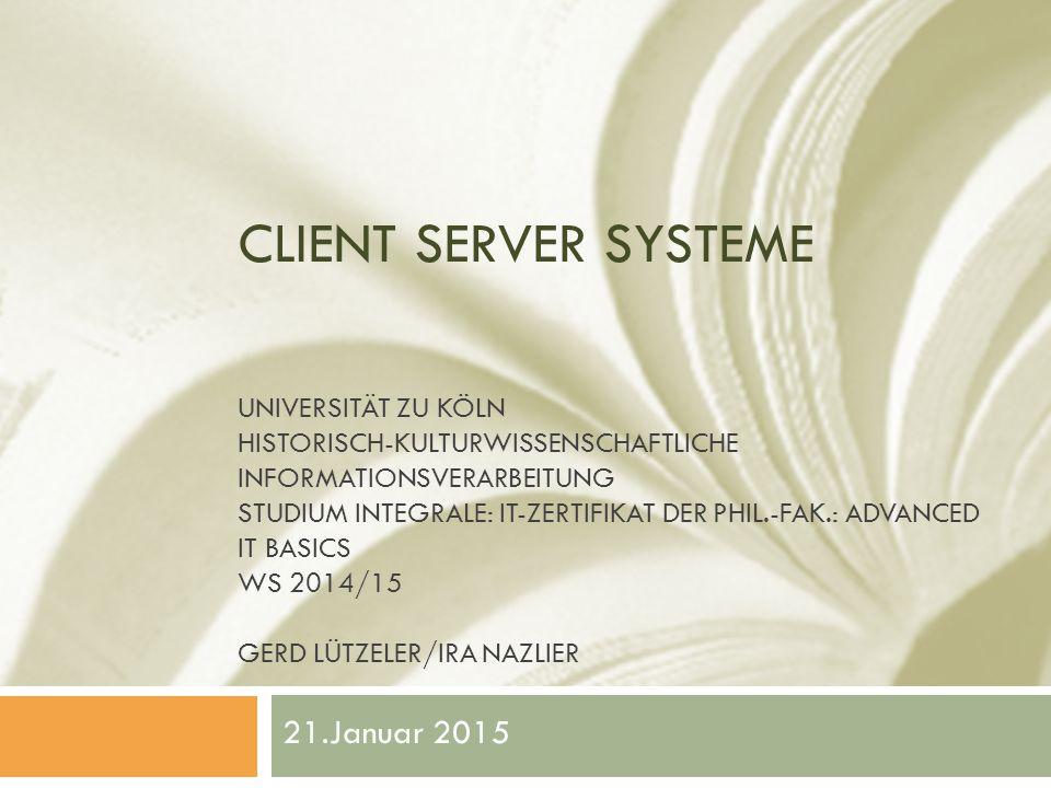 Protokolle und dazugehörige Ports  Beispiele sind: Server-TypProtokollePorts  Web-Server HTTP: 80 HTTPS:443  Datei-Server: FTP: 20 (Datenübertragung) 21 (Kontrolle) SFTP: 22  Mail-Server: POP3: 110 IMAP: 143, 220 (Version 3) SMTP: 25  Datenbank-Server: MySQL: 3306 12