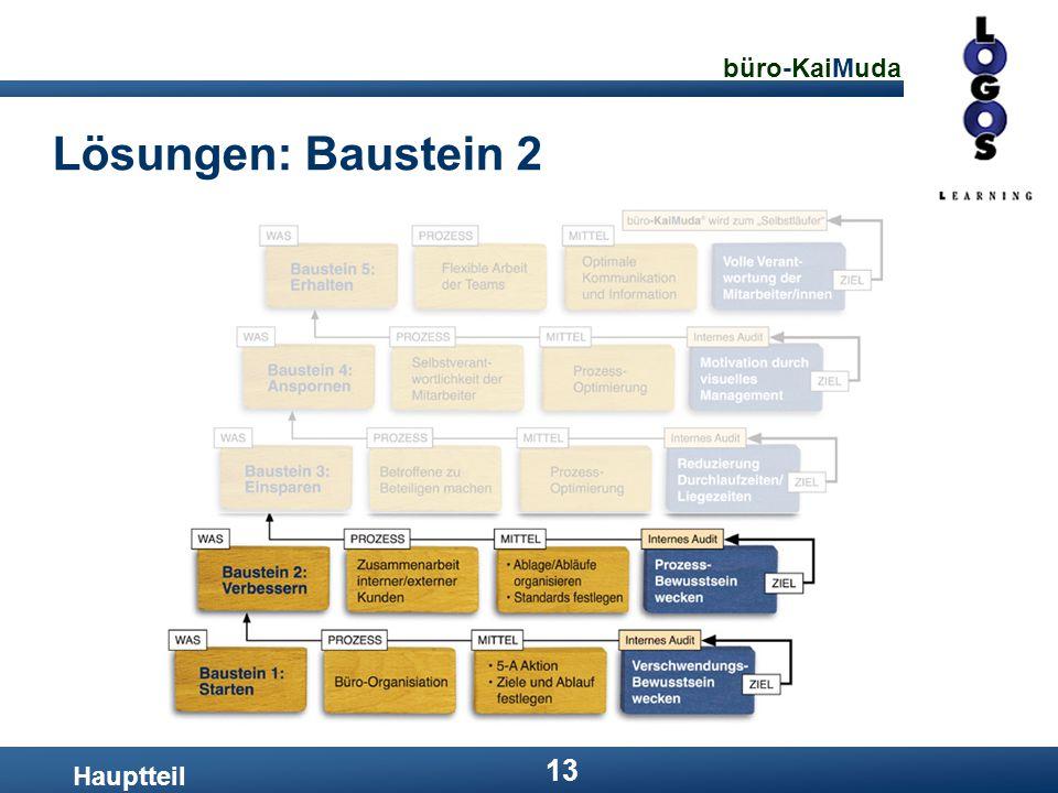 büro-KaiMuda 13 Lösungen: Baustein 2 Hauptteil