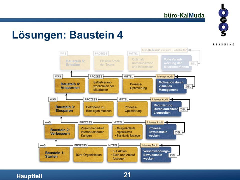 büro-KaiMuda 21 Lösungen: Baustein 4 Hauptteil