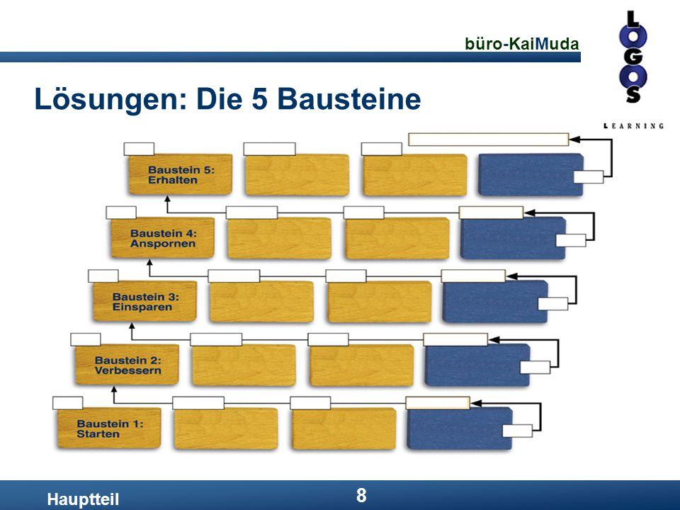 büro-KaiMuda 8 Lösungen: Die 5 Bausteine Hauptteil