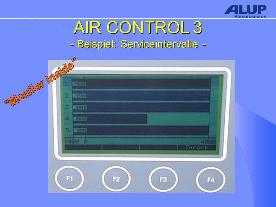 AIR CONTROL 3 - Beispiel: Serviceintervalle -