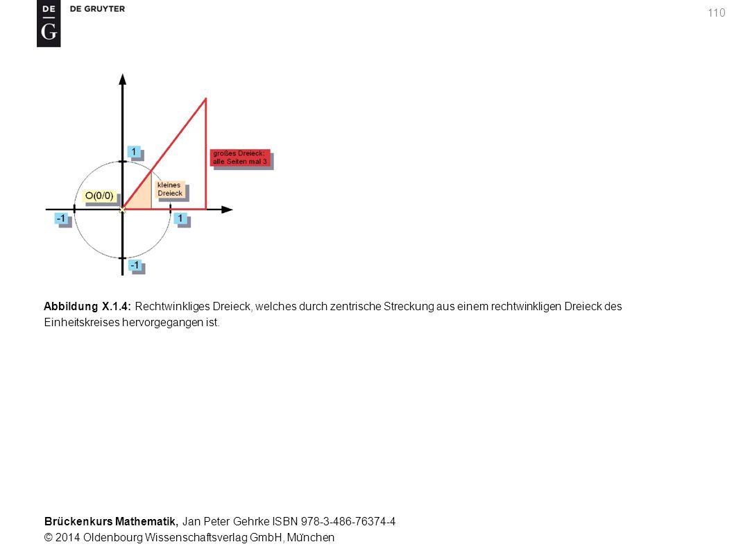 Brückenkurs Mathematik, Jan Peter Gehrke ISBN 978-3-486-76374-4 © 2014 Oldenbourg Wissenschaftsverlag GmbH, Mu ̈ nchen 110 Abbildung X.1.4: Rechtwinkliges Dreieck, welches durch zentrische Streckung aus einem rechtwinkligen Dreieck des Einheitskreises hervorgegangen ist.