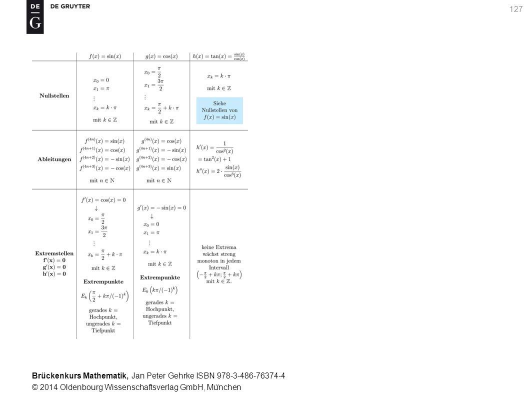 Brückenkurs Mathematik, Jan Peter Gehrke ISBN 978-3-486-76374-4 © 2014 Oldenbourg Wissenschaftsverlag GmbH, Mu ̈ nchen 127