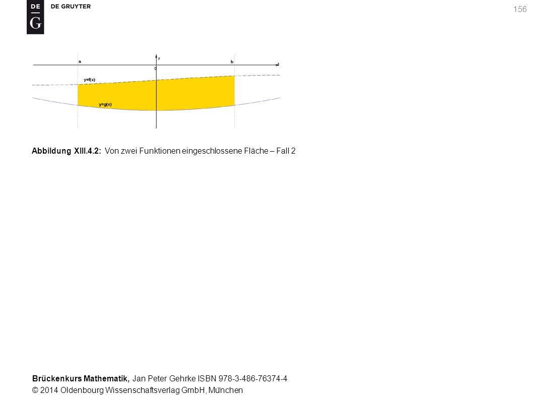 Brückenkurs Mathematik, Jan Peter Gehrke ISBN 978-3-486-76374-4 © 2014 Oldenbourg Wissenschaftsverlag GmbH, Mu ̈ nchen 156 Abbildung XIII.4.2: Von zwei Funktionen eingeschlossene Fläche – Fall 2