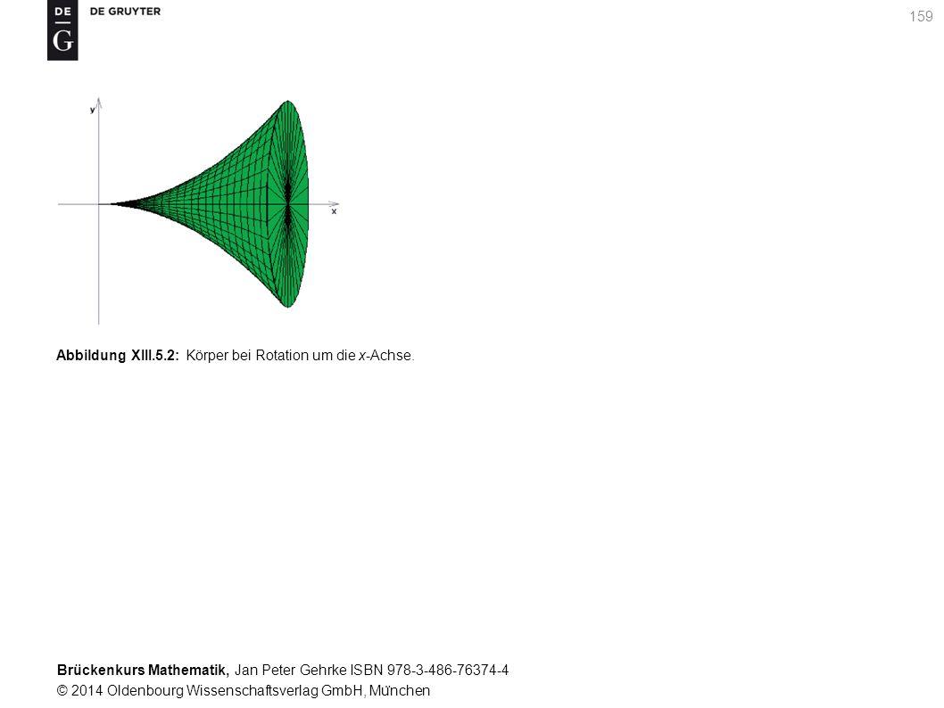 Brückenkurs Mathematik, Jan Peter Gehrke ISBN 978-3-486-76374-4 © 2014 Oldenbourg Wissenschaftsverlag GmbH, Mu ̈ nchen 159 Abbildung XIII.5.2: Körper bei Rotation um die x-Achse.