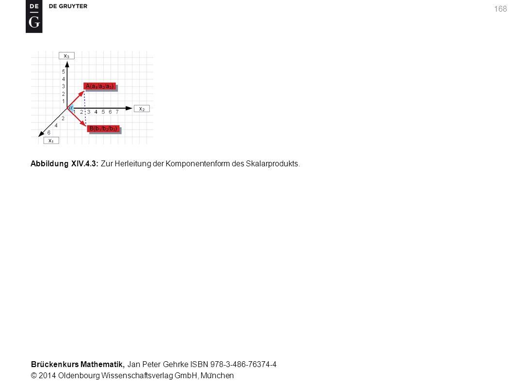 Brückenkurs Mathematik, Jan Peter Gehrke ISBN 978-3-486-76374-4 © 2014 Oldenbourg Wissenschaftsverlag GmbH, Mu ̈ nchen 168 Abbildung XIV.4.3: Zur Herleitung der Komponentenform des Skalarprodukts.