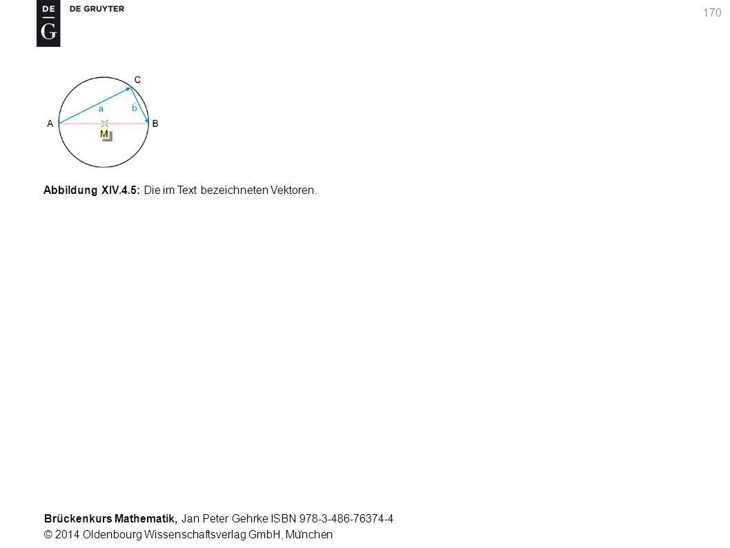 Brückenkurs Mathematik, Jan Peter Gehrke ISBN 978-3-486-76374-4 © 2014 Oldenbourg Wissenschaftsverlag GmbH, Mu ̈ nchen 170 Abbildung XIV.4.5: Die im Text bezeichneten Vektoren.