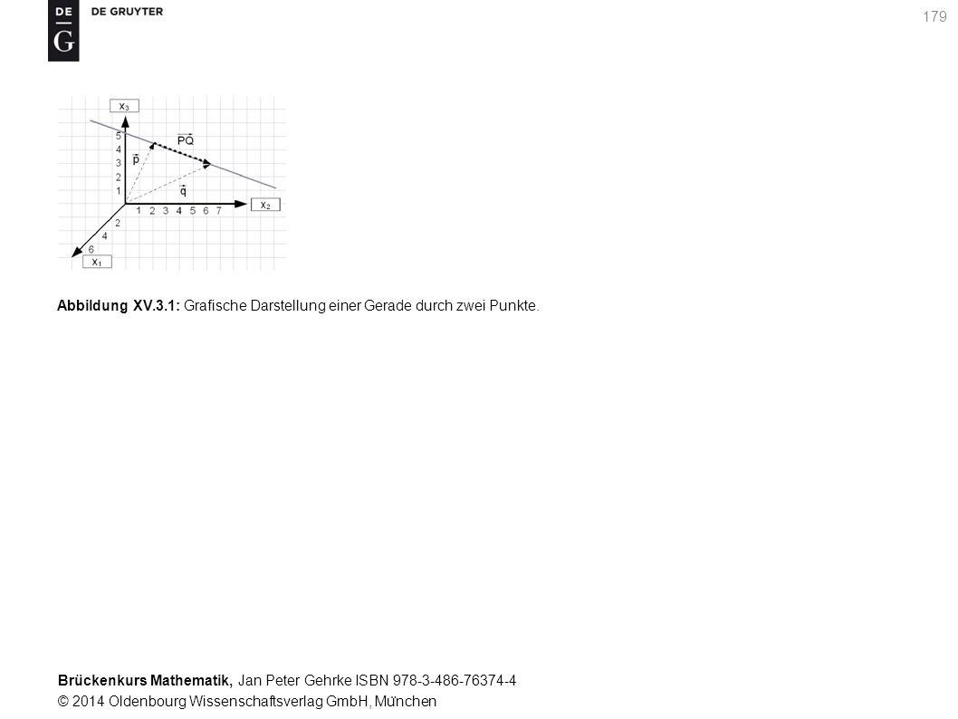 Brückenkurs Mathematik, Jan Peter Gehrke ISBN 978-3-486-76374-4 © 2014 Oldenbourg Wissenschaftsverlag GmbH, Mu ̈ nchen 179 Abbildung XV.3.1: Grafische Darstellung einer Gerade durch zwei Punkte.