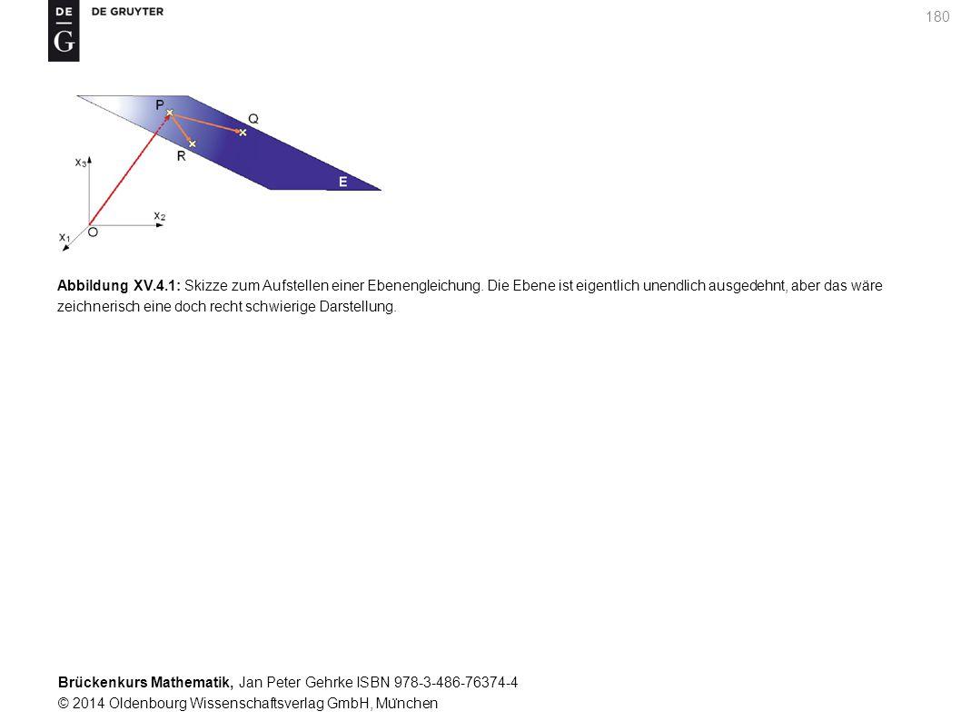 Brückenkurs Mathematik, Jan Peter Gehrke ISBN 978-3-486-76374-4 © 2014 Oldenbourg Wissenschaftsverlag GmbH, Mu ̈ nchen 180 Abbildung XV.4.1: Skizze zum Aufstellen einer Ebenengleichung.