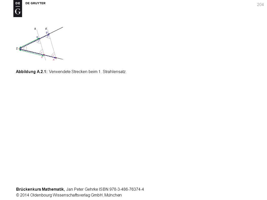 Brückenkurs Mathematik, Jan Peter Gehrke ISBN 978-3-486-76374-4 © 2014 Oldenbourg Wissenschaftsverlag GmbH, Mu ̈ nchen 204 Abbildung A.2.1: Verwendete Strecken beim 1.