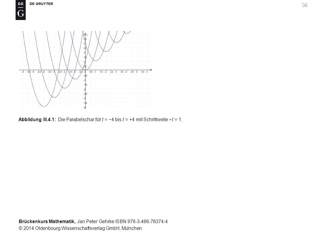 Brückenkurs Mathematik, Jan Peter Gehrke ISBN 978-3-486-76374-4 © 2014 Oldenbourg Wissenschaftsverlag GmbH, Mu ̈ nchen 36 Abbildung III.4.1: Die Parabelschar fu ̈ r t = −4 bis t = +4 mit Schrittweite △ t = 1.