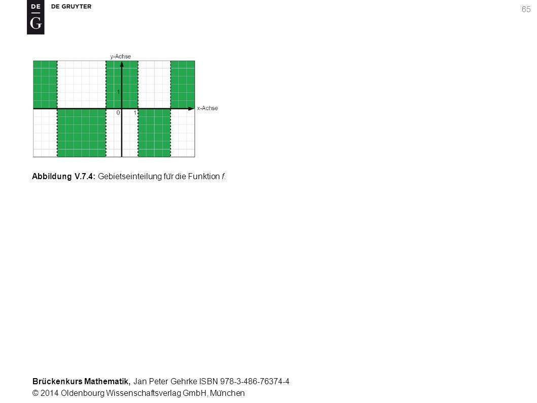 Brückenkurs Mathematik, Jan Peter Gehrke ISBN 978-3-486-76374-4 © 2014 Oldenbourg Wissenschaftsverlag GmbH, Mu ̈ nchen 65 Abbildung V.7.4: Gebietseinteilung fu ̈ r die Funktion f.