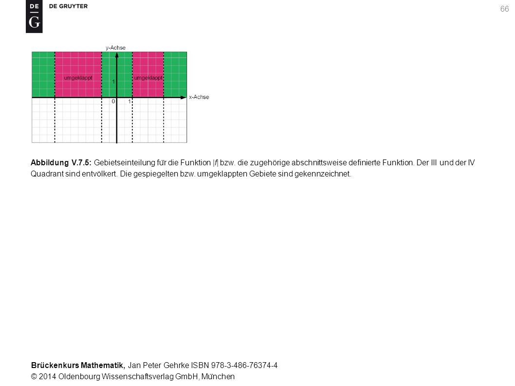 Brückenkurs Mathematik, Jan Peter Gehrke ISBN 978-3-486-76374-4 © 2014 Oldenbourg Wissenschaftsverlag GmbH, Mu ̈ nchen 66 Abbildung V.7.5: Gebietseinteilung fu ̈ r die Funktion |f| bzw.
