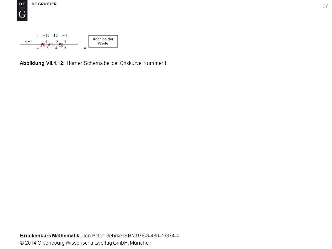 Brückenkurs Mathematik, Jan Peter Gehrke ISBN 978-3-486-76374-4 © 2014 Oldenbourg Wissenschaftsverlag GmbH, Mu ̈ nchen 97 Abbildung VII.4.12: Horner-Schema bei der Ortskurve Nummer 1.