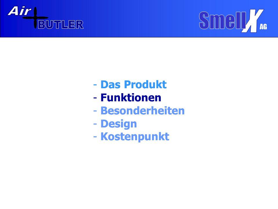 AG Funktionen  Filter  Venti- lator  Ionisator Air BUTLER 