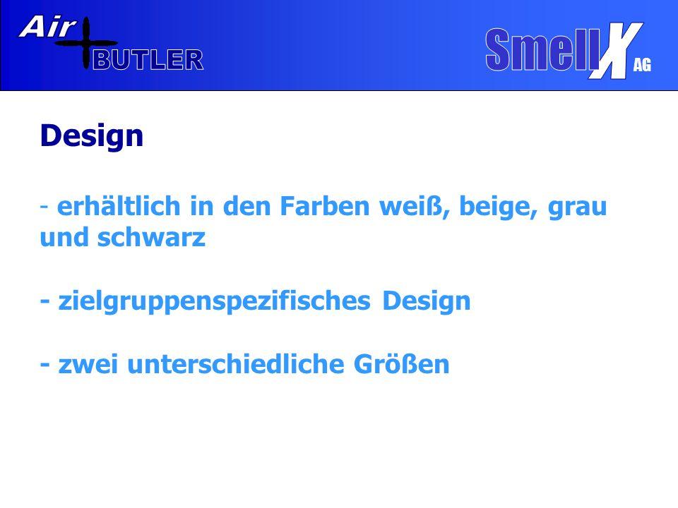 AG Design - erhältlich in den Farben weiß, beige, grau und schwarz - zielgruppenspezifisches Design - zwei unterschiedliche Größen