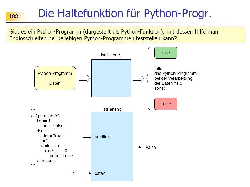 108 Die Haltefunktion für Python-Progr.