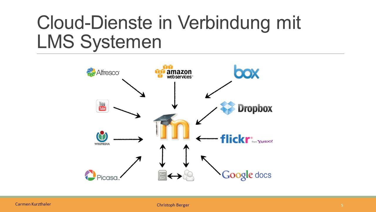 Carmen Kurzthaler Christoph Berger Cloud-Dienste in Verbindung mit LMS Systemen 5