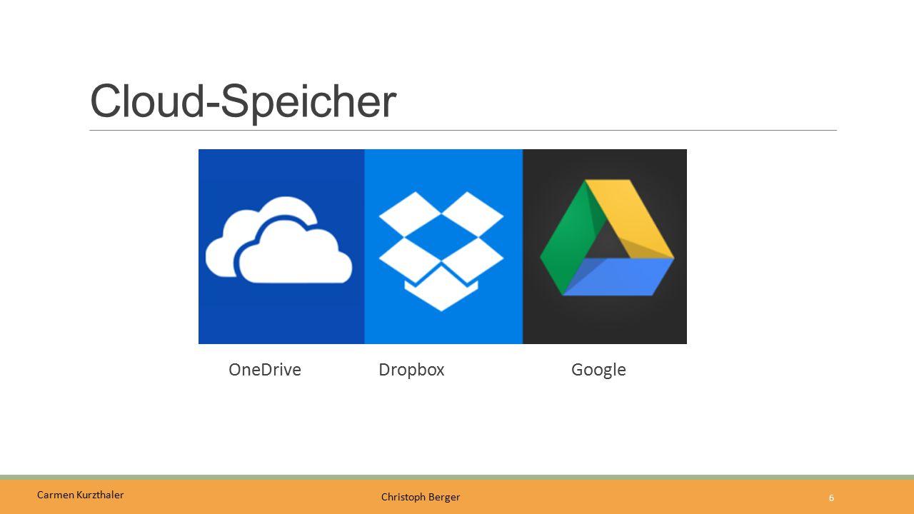Carmen Kurzthaler Christoph Berger Cloud-Speicher OneDrive DropboxGoogle 6