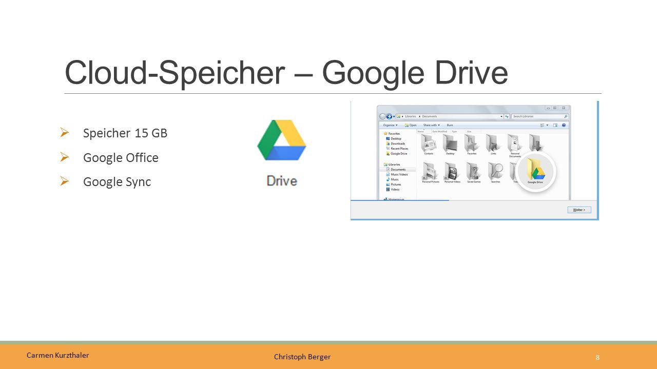 Carmen Kurzthaler Christoph Berger Cloud-Speicher - Dropbox  Datendienst  Innovative Funktionen  Benutzerfreundlich  2 GB  Dropbox Sync 9