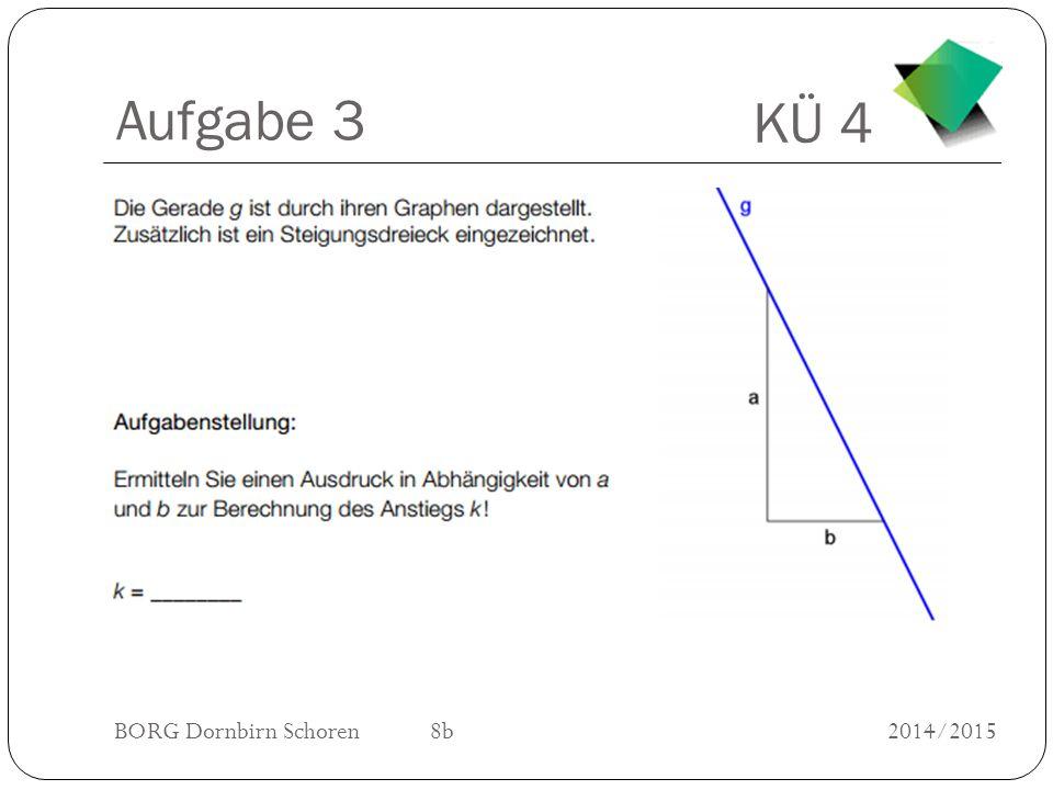 KÜ 4 BORG Dornbirn Schoren 8b2014/2015 Aufgabe 4