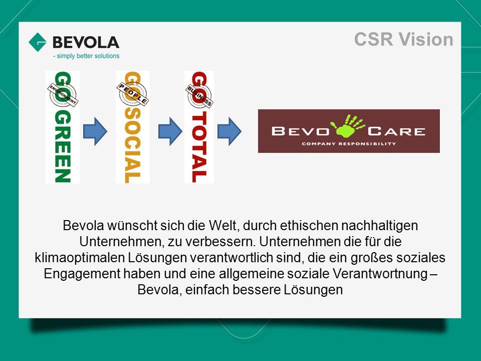 Bevola wünscht sich die Welt, durch ethischen nachhaltigen Unternehmen, zu verbessern. Unternehmen die für die klimaoptimalen Lösungen verantwortlich