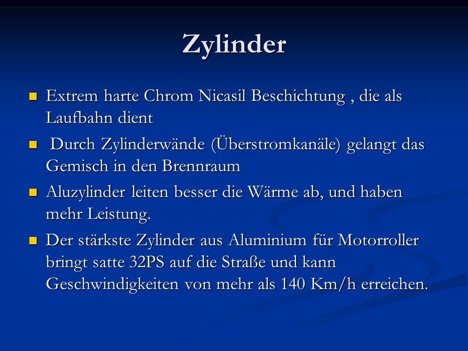 Zylinder Extrem harte Chrom Nicasil Beschichtung, die als Laufbahn dient Extrem harte Chrom Nicasil Beschichtung, die als Laufbahn dient Durch Zylinde