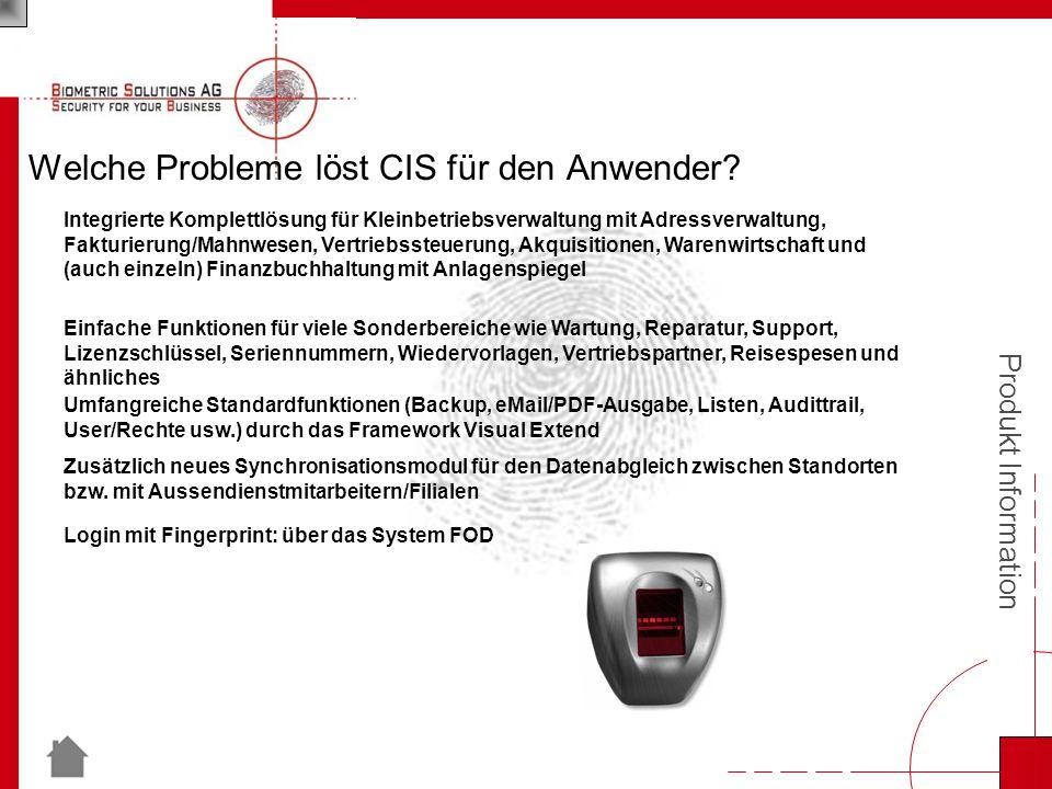 Produkt Information Welche Probleme löst CIS für den Anwender.