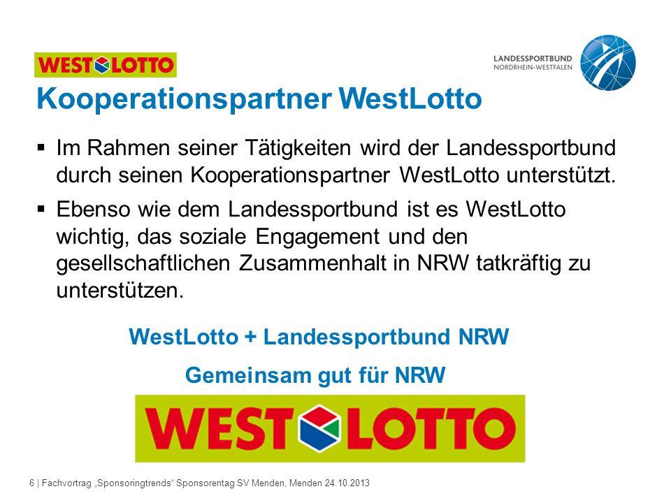 "17 | Fachvortrag ""Sponsoringtrends Sponsorentag SV Menden, Menden 24.10.2013 Gesellschaftliche Trends"