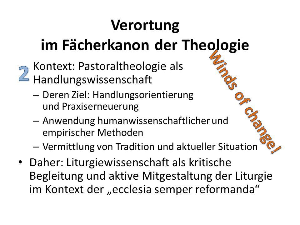 Kontext: Pastoraltheologie als Handlungswissenschaft – Deren Ziel: Handlungsorientierung und Praxiserneuerung – Anwendung humanwissenschaftlicher und