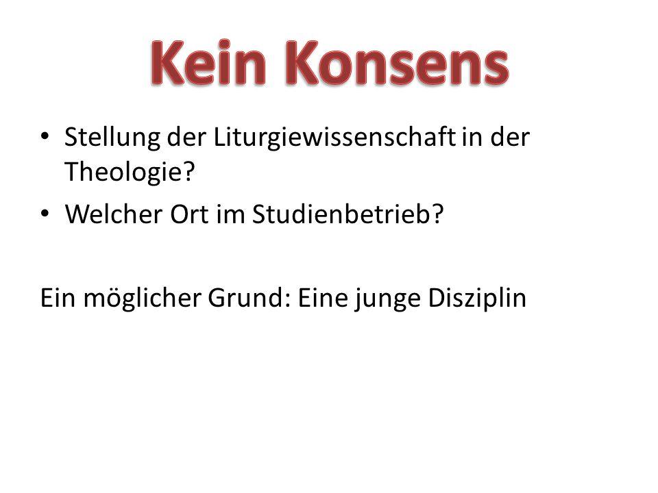 Stellung der Liturgiewissenschaft in der Theologie.