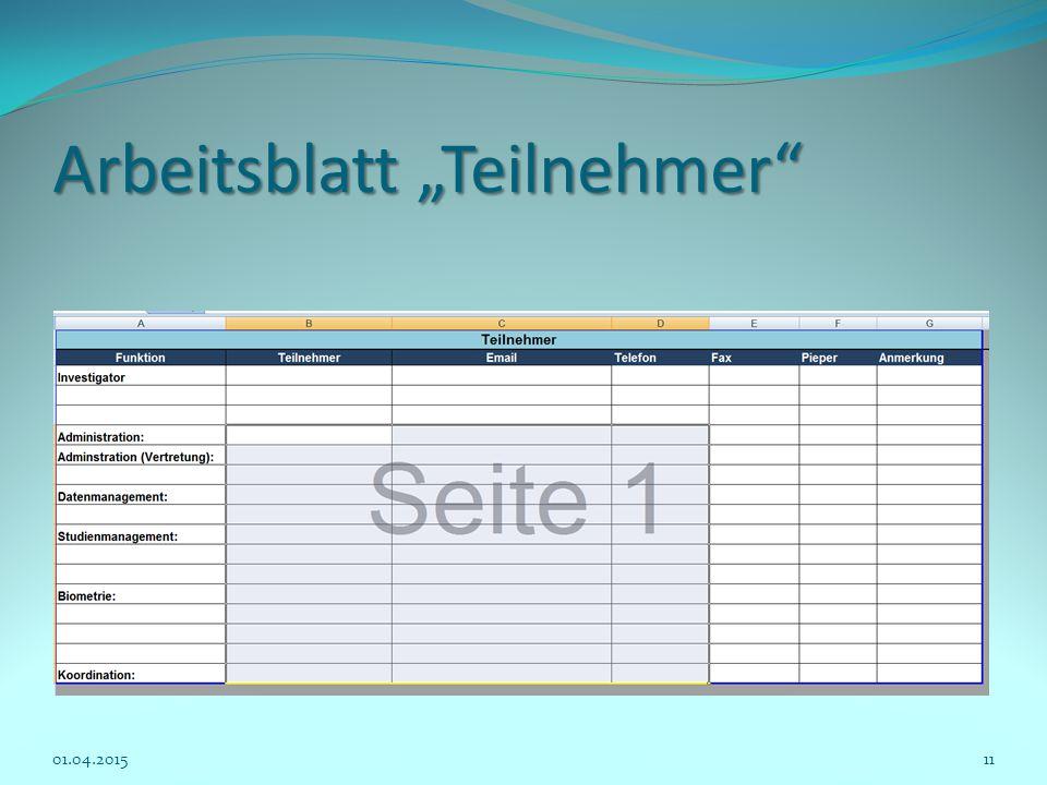 """Arbeitsblatt """"Teilnehmer"""" 01.04.201511"""